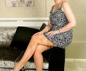 Suzie stone bigboobs mature blonde poses in tan stockings - part 12