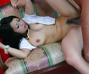 Japanese chick Nana Kunimi starts a finishes a fuck session with a blowjob