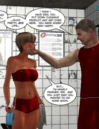 A woman blowing a hung guy in these comics - part 13
