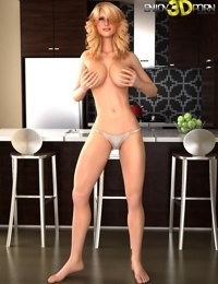 Hot blonde babe loses her sheer top - part 13