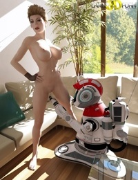 Magnificent babe gets sexual with her robot assistant - part 504