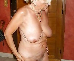 Very old grannies showing off their goodies - part 1569
