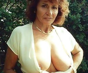 Amateur grannies showing off their big boobs - part 2544