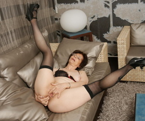 Naughty mature slut getting wet on the couch - part 2110