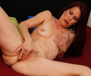 Horny MILF Jazmin Coxx finally can take off uniform and satisfy excited pussy