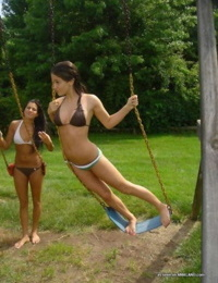 Compilation of bikini-clad girlfriends posing sexy outdoors - part 4399