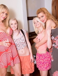 Russian lesbian coeds licking in lesbos foursome - part 4273
