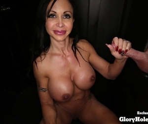 Busty mom Jewels Jade gives absolutely amazing blowjob and swallows sperm