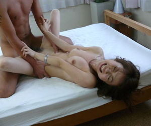 Petite Japanese chick Sara Seori gets double fucked after being masturbated