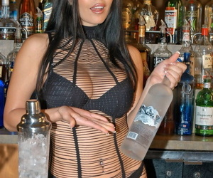 Seductive busty bartender Mikayla joins tourists Kelly and Ryan Madison