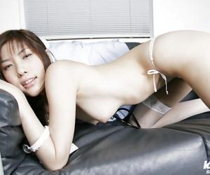 Stupendous asian hottie Riko Tachibana uncovering her tempting curves