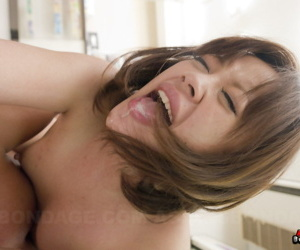 Japanese girl is left with a creampie pussy after being forced to have sex
