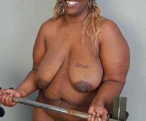 BBBW Lyrico exposing big black breasts and big fat black ass