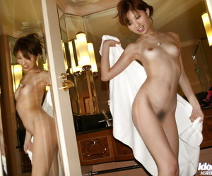 Naughty asian lady with hairy cunt gets fucked hardcore after shower