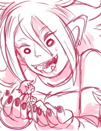 Android 21 vore sketch