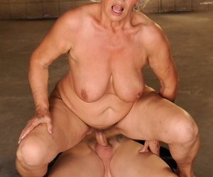 Raunchy granny with big tits Norma gets fucked and jizzed by a young man