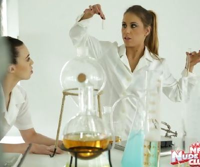 Lesbian nurse fingers Nikky Thorne and takes part in a catfight