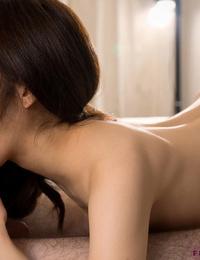 Little Japanese girl Komiyama Emi seize her guys hard-on before being jacked