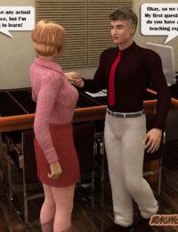 Raunchy School - New teacher works hard to impress a horny principal