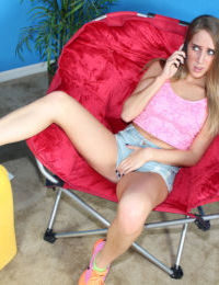 Candence Lux works pussy with toys in sensual phone sex XXX play