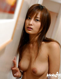 Graceful asian stunner with scorching ass Ryoko Mitake slipping off her clothes