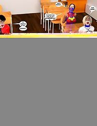 New Arkham For Superheroines 3 - Back to School