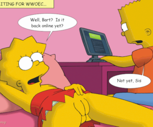 Lisa touching her pussy next to bart
