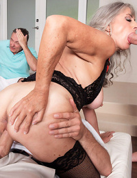 Granny silva foxx screws 2 men while her cuckold husband has to see - part 1000