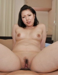 Asian MILF Aya Uchiyama gets her fur covered beaver pumped and creampied
