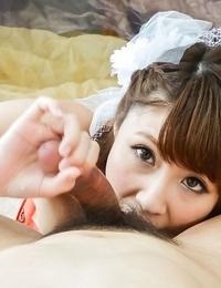 Asian bride risa mizuki deepthroats a beef whistle till cumshot - part 665
