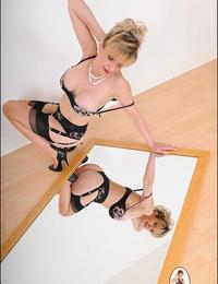 Undergarments milf woman sonia posing in the mirror - part 2508