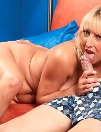 Naughty blonde mature buxom rock hard shaft - part 5009