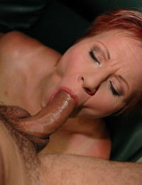 Redhead mature chick Magdolna and her husband fucking on the bed