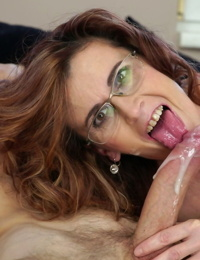 Sloppy old chick Mayna May blows youthfull mans dong- gets bitchy and jizzed