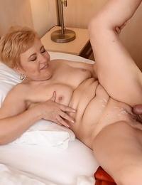 Nasty granny Ursula Grande gets her old vagina gobbled & torn up by youthful lover