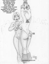 Thong Girl Meets Power Girl - part 2